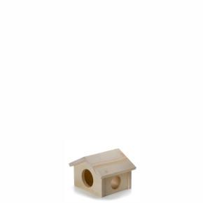 JK Drevený domček pre škrečka 11x10x9,5 cm
