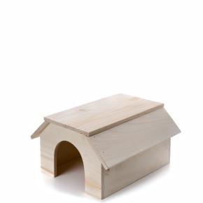 JK Drevený domček králik 31x22x16 cm