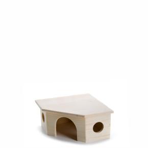 JK Drevený domček morča 22x22x11 cm