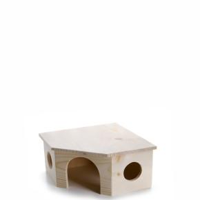 JK Drevený domček králik 26x26x13 cm