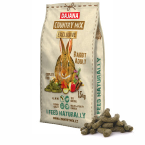 Dajana - COUNTRY MIX EXCLUSIVE, králik 1 500g, krmivo pre králiky