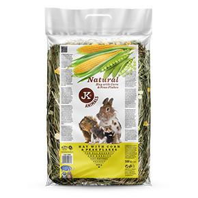 JK Prírodné seno s hrachom a kukuričnými lupienkami 0,5kg