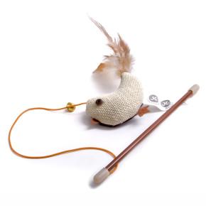 JK Vtáčik na prúte s catnipom (santi) 18 cm