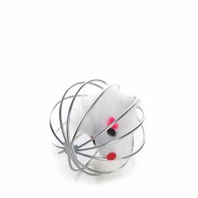 JK myška v drôtené loptičke 6 cm