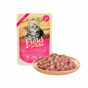 Sams Field True Meat Fillets with Turkey & Broccoli for Kittens (Sam's Field)