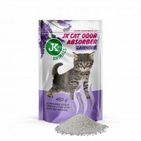 JK Lavender Absorber, pohlcovač zápachov s vôňou levandule, 450g, podporuje účinok podstielok