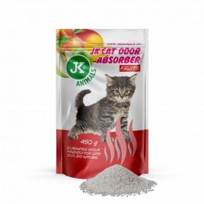 JK Fruits Absorber, pohlcovač zápachov s vôňou ovocie, 450g, podporuje účinok podstielok