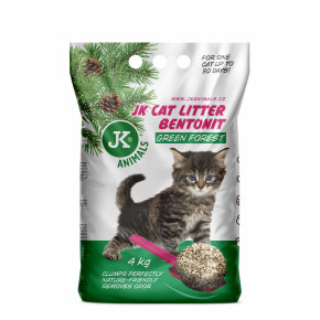 JK CAT LITTER zelený les - hrudkujúca podstielka 4kg