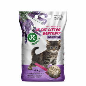 JK CAT LITTER levandule - hrudkujúca podstielka 4kg