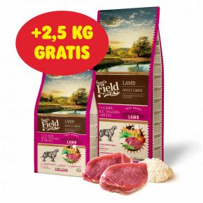 Sam's Field Low Grain Adult Large Lamb - Free Range, superprémiove granule pre dospelých psov veľkých a obrích plemien s jahňacím z voľného chovu, 13kg (Sams Field bez pšenice)