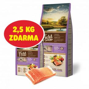 Sam's Field Low Adult Salmon & Potato, hypoalergénne superprémiové granule, 13kg (Sams Field bez pšenice)