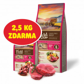 Sams Field Grain Free Beef (Angus), superprémiové granule 13kg (Sam's Field bez obilnín)