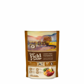 Sams Field Grain Free Venison, superprémiové granule 800g (Sams Field bez obilnín)