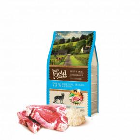 Sam's Field Gluten Free Beef & Veal Junior Large, superprémiové granule pre šteňatá a mladé psy veľkých a obrích plemien 2,5kg (Sams Field bez lepku)