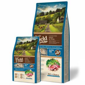 Sams Field Gluten Free Adult Large Beef & Veal, superprémiové granule 13kg (Sam's Field)