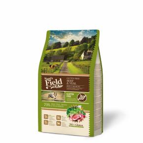 Sams Field Gluten Free Adult Medium Beef & Veal, superprémiové granule 2,5kg (Sam's Field)