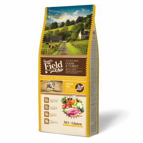 Sams Field Gluten Free Adult Large Goose & Turkey, superprémiové granule 13 kg (Sam's Field)