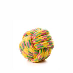 Bavlnená preplietaná lopta 10cm, bavlnená hračka