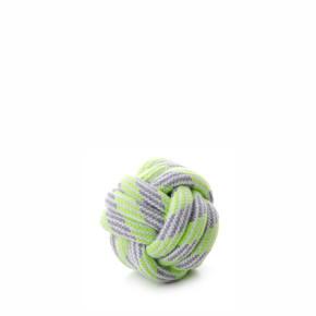 JK bavlnená preplietaná lopta zelená, bavlnená hračka
