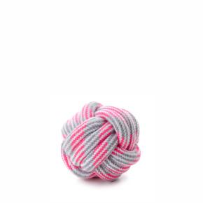JK bavlnená preplietaná lopta ružová, bavlnená hračka