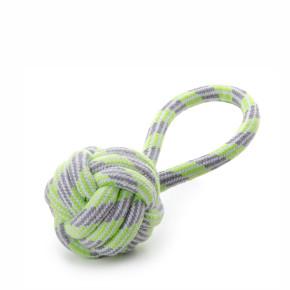 JK bavlnené preťahovadlo zelené, bavlnená hračka
