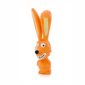 Latexový psík ušatý, cca 17cm, latexová hračka