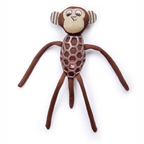 Opica s dlhými nohami, látková pískacia hračka s TPR prvkami