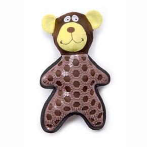 Medveď, nylonová pískacia hračka s TPR prvkami
