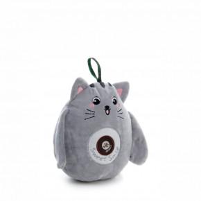 Plyšová mačička, plyšová pískacia hračka, 16cm