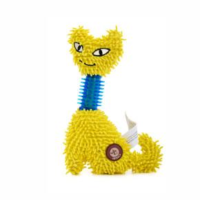 JK Mačka mop s TPR krkom, 23 cm žltá