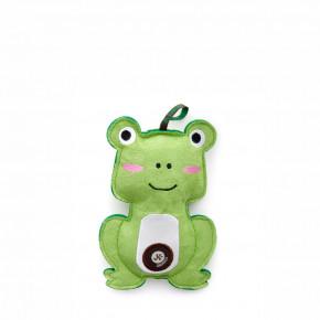 Žaba, pískacia hračka z pevnej textilnej látky, 17cm