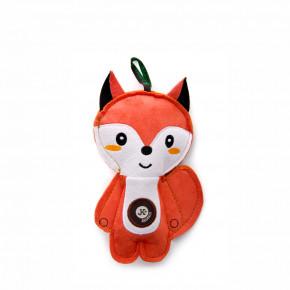 Liška, pískacia hračka z pevnej textilnej látky, 19cm