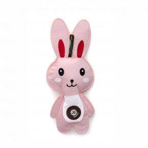 Zajac, pískacia hračka z pevnej textilnej látky, 24cm