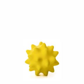 JK vinylová lopta s pichliačmi žltá, vinylová (gumová) hračka