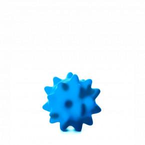 JK vinylová lopta s pichliačmi modrá, vinylová (gumová) hračka