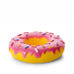 JK Vinylový donut XL 14cm, vinylová (gumová) hračka