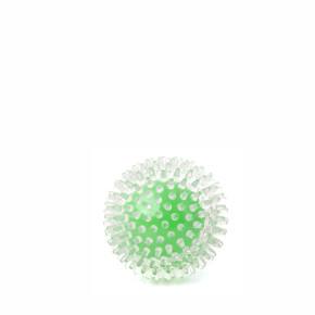 JK TPR lopta s pichliačmi zelená, odolná (gumová) hračka z termoplastickej gumy