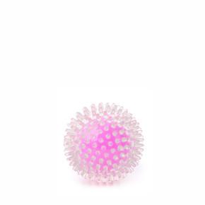 JK TPR lopta s pichliačmi ružová, odolná (gumová) hračka z termoplastickej gumy