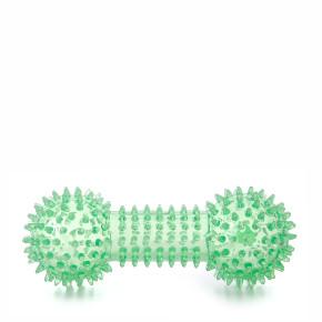 JK TPR - činka s pichliačmi zelená, odolná (gumová) pískacia hračka z termoplastickej gumy
