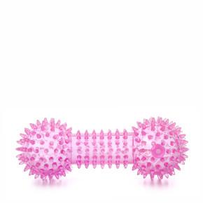 JK TPR - činka s pichliačmi ružová, odolná (gumová) pískacia hračka z termoplastickej gumy