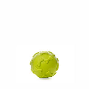 JK Zelena TPR pískacia loptička kosti 6 cm