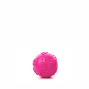 JK ružová TPR pískacia loptička labky 6 cm