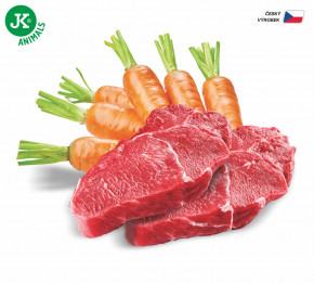 JK ANIMALS Beef & Carrot, Premium Paté with Chunks | © copyright jk animals, všetky práva vyhradené