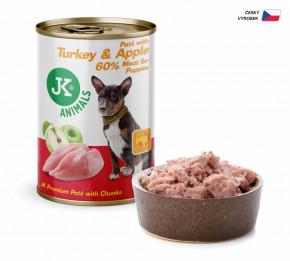 JK ANIMALS Turkey & Apple, Premium Paté with Chunks | © copyright jk animals, všetky práva vyhradené