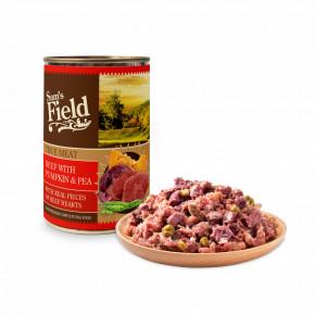 Sam's Field True Beef Meat with Pumpkin & Pea, superprémiová konzerva, 400g (Sams Field)