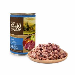 Sams Field konzerva s 80 % pravého jahňacieho mäsa 400g