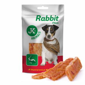 JK Meat Snack Rabbit fillets, sušené králičie mäso, mäsová maškrta, 80g