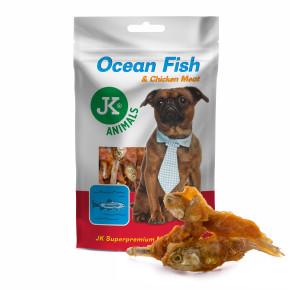 JK Meat Snack Ocean Fish and Chicken Meat, ryba s kuracím mäsom, mäsová maškrta, 80g
