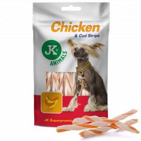 JK Kuracie mäso s treskou 80g   © copyright jk animals, všechna práva vyhrazena