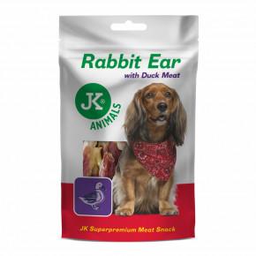 JK ANIMALS Meat Snack Rabbit Ear with Duck Meat, masový maškrta | © copyright jk animals, všetky práva vyhradené